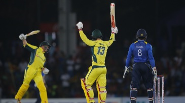 Matthew Wade and George Bailey were ecstatic upon securing victory