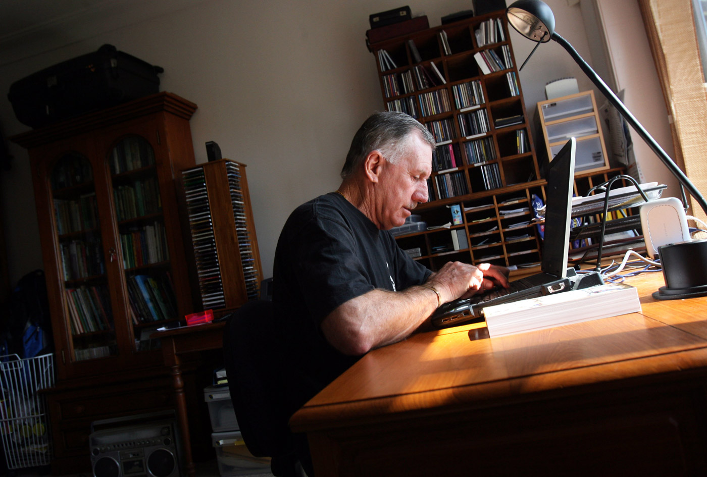 Chappell in his study at home in Sydney