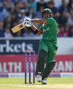 Sami Aslam pulls through the leg side, England v Pakistan, 4th ODI, Headingley, September 1, 2016