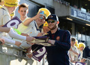 Rob Keogh signs autographs after another Northants T20 success