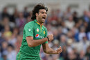 Mohammad Irfan bellows in celebration after picking up his second wicket, England v Pakistan, 4th ODI, Headingley, September 1, 2016