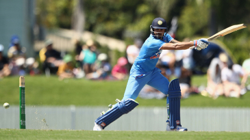 Manish Pandey thumps the ball through the off side
