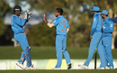 Yuzvendra Chahal celebrates after dismissing Kane Richardson, Australia A v India A, Quadrangular A-team one-day series, final, Mackay, September 4, 2016