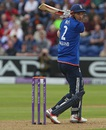Alex Hales slashes one behind square, England v Pakistan, 5th ODI, Cardiff, September 4, 2016