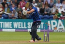 Chris Woakes was bowled by Hasan Ali for 10,  England v Pakistan, 5th ODI, Cardiff, September 4, 2016