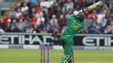 Babar Azam was bowled by Mark Wood