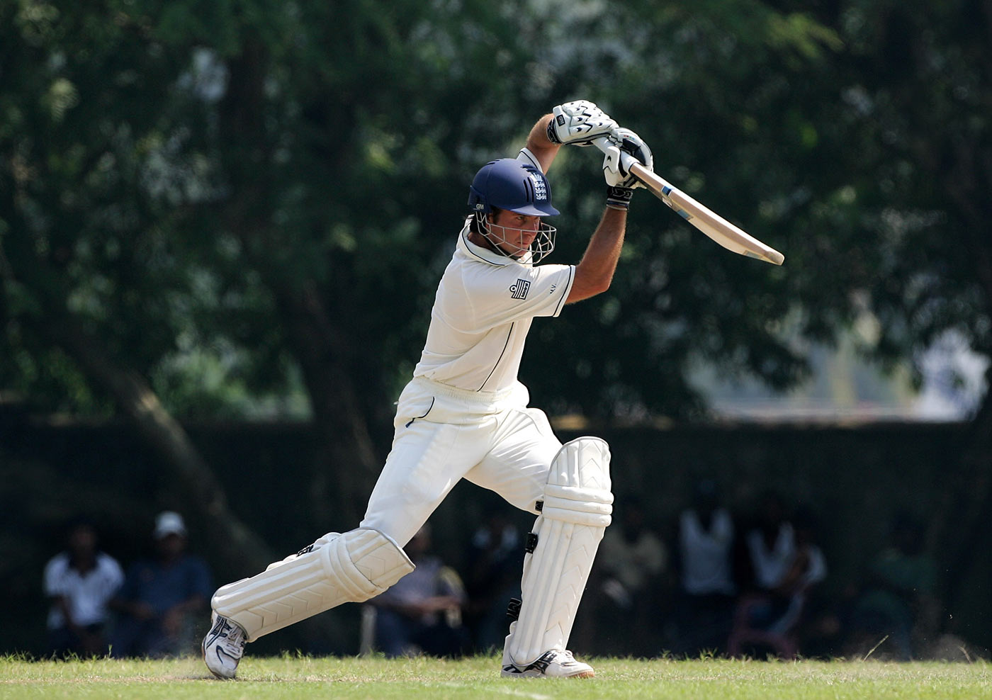 Michael Vaughan plays a cover drive