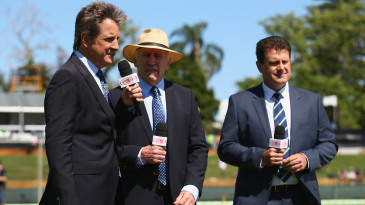 Mark Nicholas, Ian Chappell and Mark Taylor talk on television
