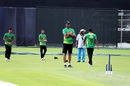 Courtney Walsh puts the Bangladesh bowlers through their paces, Dhaka, September 5, 2016