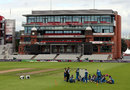 Pakistan sit down for a team talk ahead of the one-off T20, Old Trafford, September 6, 2016