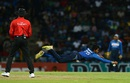 Dhananjaya de Silva dives as he tries to stop the ball, Sri Lanka v Australia, 1st T20I, Pallekele, September 6, 2016