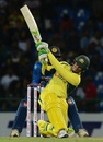 Usman Khawaja slogs en route to his 22-ball 36, Sri Lanka v Australia, 1st T20I, Pallekele, September 6, 2016