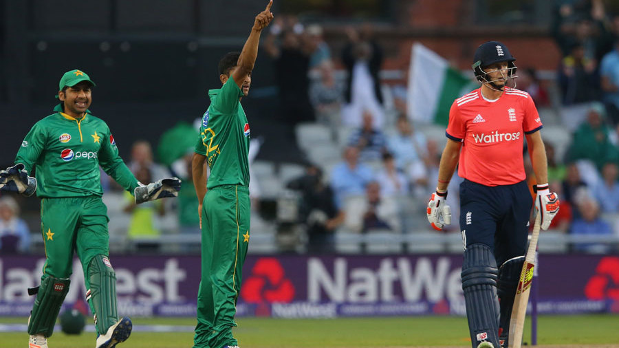 Hasan Ali picked up the wicket of Joe Root