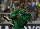 Shoaib Malik carried Babar Azam off the field after he hurt his ankle, England v Pakistan, only T20, Old Trafford, September 7, 2016
