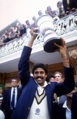 India's finest moment on the world stage: Kapil Dev lifts the World Cup © Getty Images