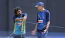 Lasith Malinga has a chat with Graham Ford, Colombo, September 8, 2016