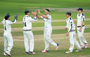 Jack Brooks celebrates one of his four wickets, Yorkshire v Durham, County Championship, Division One, Headingley, 3rd day, September 8, 2016