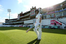 Tom Alsop resumes his innings after notching a maiden first-class hundred, Surrey v Hampshire, County Championship, Division One, The Oval, 2nd day, September 8, 2016