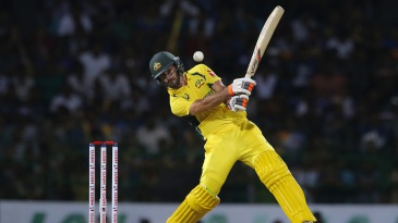 Glenn Maxwell muscles a cover drive away