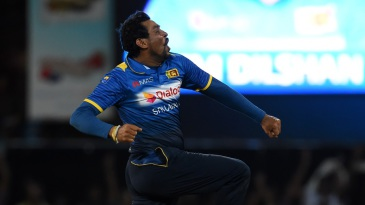 Tillakaratne Dilshan ended his international career with a wicket off his last ball