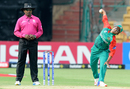 Bangladesh legspinner Rumana Ahmed in her delivery stride, India v Bangladesh, Women's World T20 2016, Bangalore, March 15, 2016