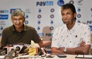 BCCI secretary Ajay Shirke and Selection chairman Sandeep Patil address the media, Mumbai, September 9, 2016