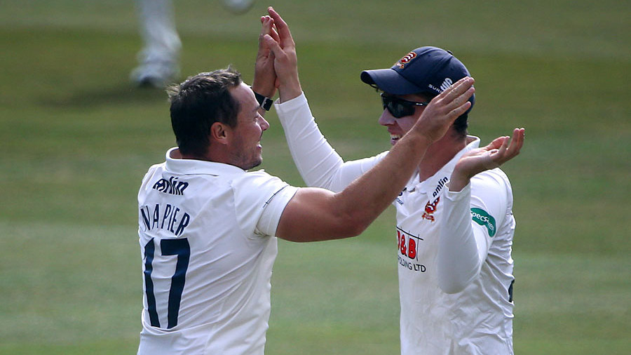 Graham Napier ripped through Glamorgan's top order in his final home game