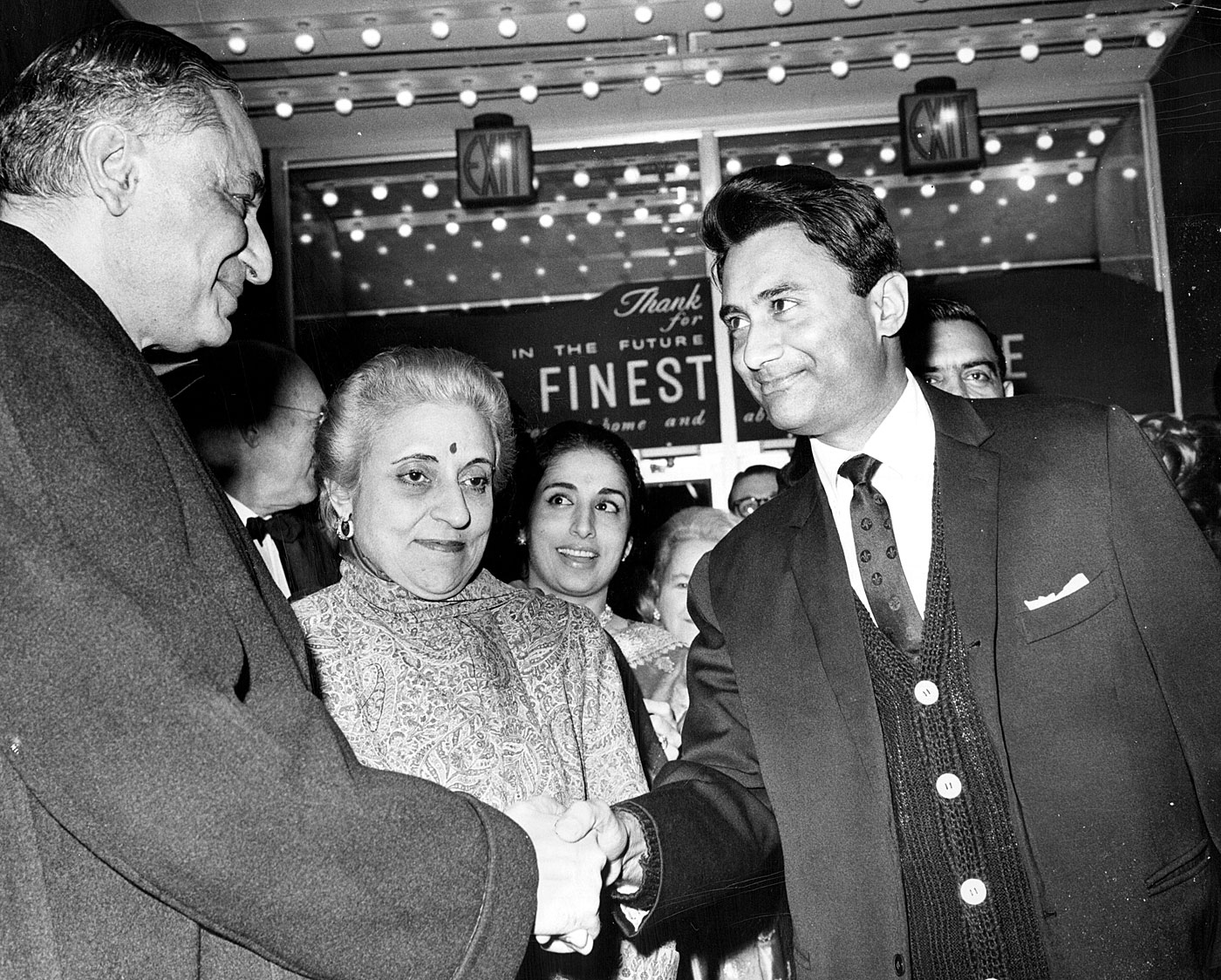 Dev Anand (far right) was among the first of Bollywood's superstars to play the role of a cricketer, beginning with <i>Love Marriage</i> in 1959