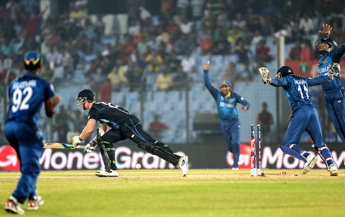 Famous five: Herath's spell of 5 for 3 against New Zealand in the 2014 World T20 sealed his reputation as a  big-tournament player