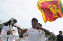 Rangana Herath celebrates Sri Lanka's win, Sri Lanka v Australia, 3rd Test, SSC, 5th day, August 17, 2016