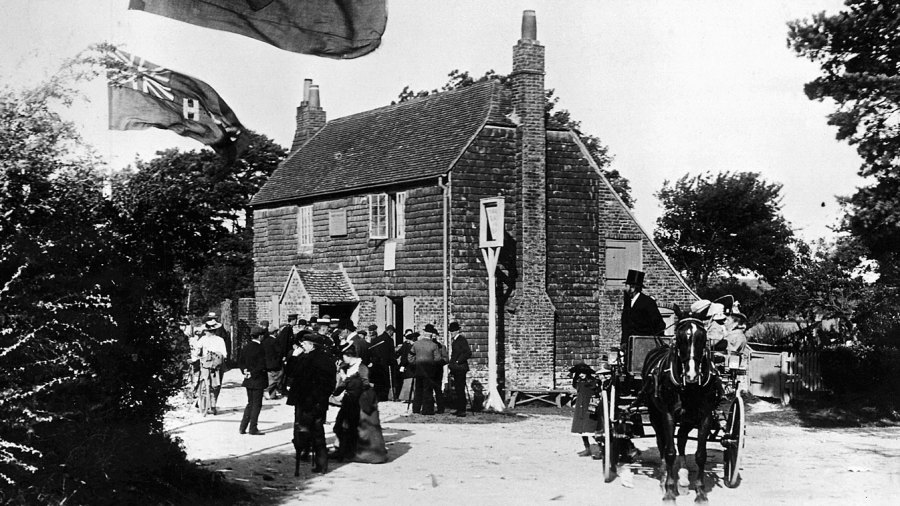The Bat and Ball Inn near Broadhalfpenny Down which was frequented by the Hambledon Cricket Club