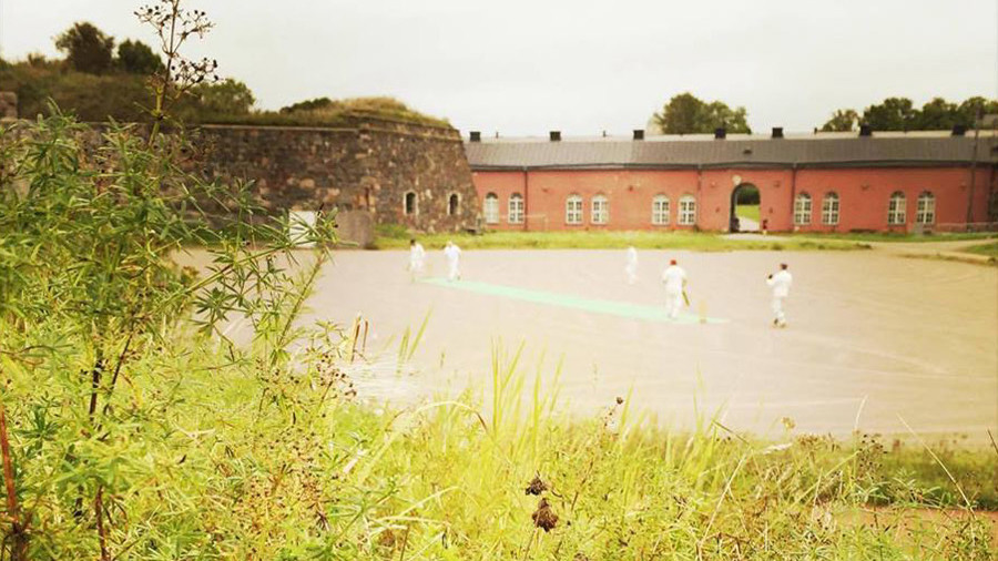The Viapori Cup on the island of Suomenlinna, off the coast of Helsinki, Finland