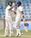 Kaustubh Pawar and Suryakumar Yadav added 155 runs for the fourth wicket, Mumbai v New Zealanders, tour match, 2nd day, Delhi, September 17, 2016