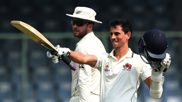 Siddhesh Lad brought up his century on the third morning