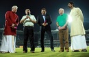 Dean Jones, Ravi Shastri, Allan Border and Kris Srikanth were felicitated by the TNCA on the 30th anniversary of the second tied Test, Chennai, September 18, 2016