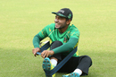 Mushfiqur Rahim does some resistance exercises, Mirpur, September 18, 2016