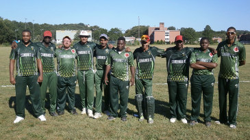 Halmer's Combined Caribbean XI line up for a club game in the South Connecticut League