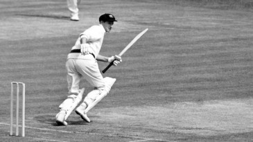 Bill Lawry takes off for a run