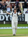 Nick Gubbins acknowledges his century, Middlesex v Yorkshire, County Championship, Division One, Lord's, 1st day, September 20, 2016