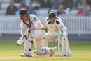 Dom Bess made 41 to secure Somerset a fourth batting point, Somerset v Nottinghamshire, County Championship, Division One, Taunton, 2nd day, September 21, 2016