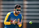 Mohammad Nawaz prepares to catch the ball during training, Dubai, September 21, 2016
