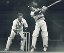 Carlisle Best hits out as Dave Houghton looks on, Rest of the World XI v West Indies XI, United Way Charity Match, Toronto, November 5, 1989