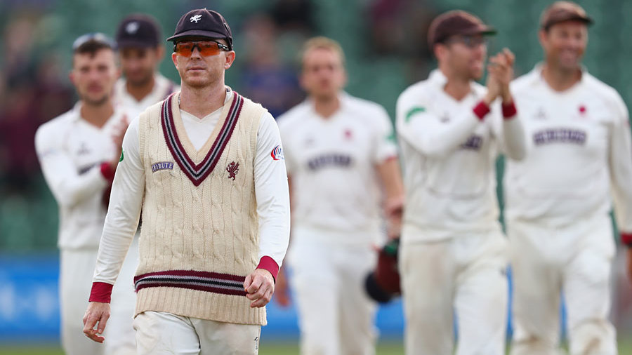 Chris Rogers leads Somerset off