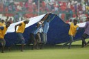 Rain delayed the start of the final session on the second day, India v New Zealand, 1st Test, Kanpur, 2nd day, September 23, 2016