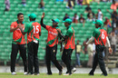 Subashis Roy is congratulated on a wicket, BCB XI v Afghanistan, Fatullah, September 23, 2016