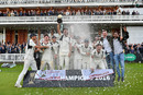 James Franklin, Middlesex's captain, leads the celebrations as Middlesex claim the County Championship, Middlesex v Yorkshire, County Championship, Division One, Lord's, September 23, 2016