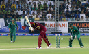 Kieron Pollard has his middle stump disturbed, Pakistan v West Indies, 1st T20I, Dubai, September 23, 2016