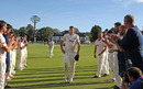 David Masters gets a guard of honour as he finishes his first-class career, Kent v Essex, County Championship, Division Two, Canterbury, September 23, 2016