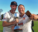Time for a selfie: Graham Napier, David Masters and the Division Two trophy, Kent v Essex, County Championship, Division Two, Canterbury, September 23, 2016