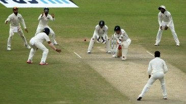 Trent Boult popped a catch to silly point via his front boot